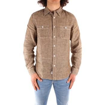 textil Herr Långärmade skjortor Blauer 21SBLUS01221 BROWN