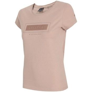 textil Dam T-shirts 4F TSD034 Rosa