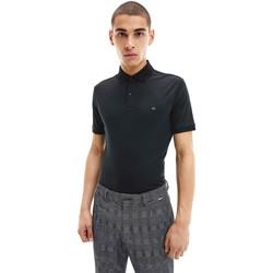 textil Herr Kortärmade pikétröjor Calvin Klein Jeans K10K107090 Svart