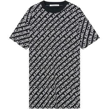 textil Dam Klänningar Calvin Klein Jeans J20J215678 Svart