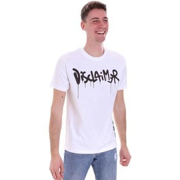 textil Herr T-shirts Disclaimer 21EDS50565 Vit