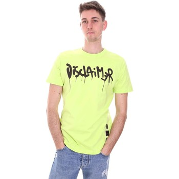 textil Herr T-shirts Disclaimer 21EDS50565 Grön