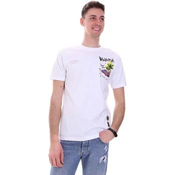 textil Herr T-shirts Disclaimer 21EDS50522 Vit