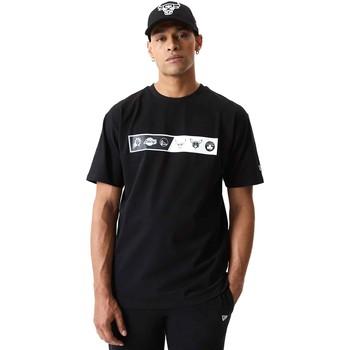 textil Herr T-shirts New-Era 12553333 Svart