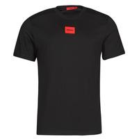 textil Herr T-shirts HUGO DIRAGOLINO Svart / Röd