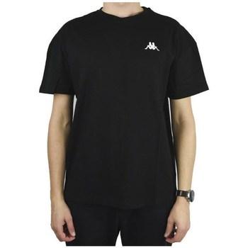 textil Herr T-shirts Kappa Veer Tshirt Svarta