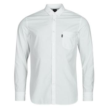 textil Herr Långärmade skjortor BOSS MAGNETON Vit