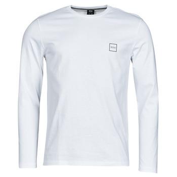 textil Herr Långärmade T-shirts BOSS TACKS Vit