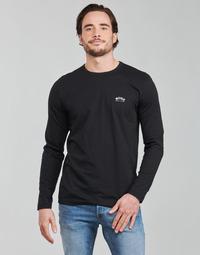 textil Herr Långärmade T-shirts BOSS TOGN CURVED Svart