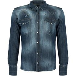 textil Herr Långärmade skjortor Takeshy Kurosawa  Blå