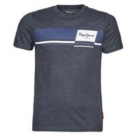 textil Herr T-shirts Pepe jeans KADE Blå