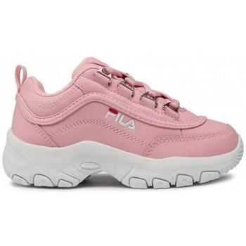 Skor Barn Sneakers Fila Strada Kids Vit, Rosa