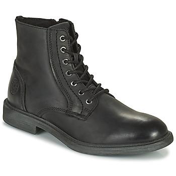 Skor Herr Boots Jack & Jones JFW KARL LEATHER BOOT Svart