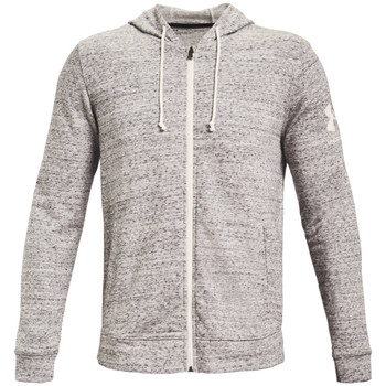 textil Herr Sweatjackets Under Armour Rival Terry Full Zip Hoodie Grise