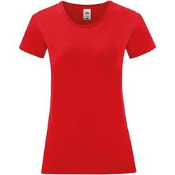 textil Dam T-shirts Fruit Of The Loom 61444 Röd