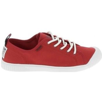 Skor Dam Sneakers Palladium Easy Lace Rouge Röd