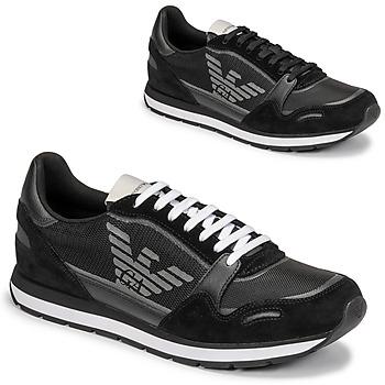 Skor Herr Sneakers Emporio Armani ANIMA Svart