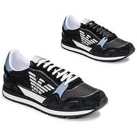 Skor Herr Sneakers Emporio Armani ANIMA Svart / Blå / Bordeau