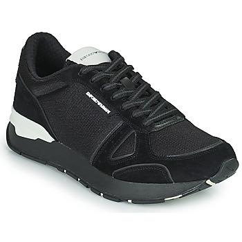 Skor Herr Sneakers Emporio Armani BALISTA Svart
