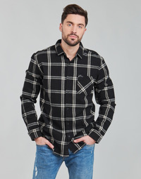 textil Herr Långärmade skjortor Rip Curl CHECKED OUT L/S FLANNEL Svart