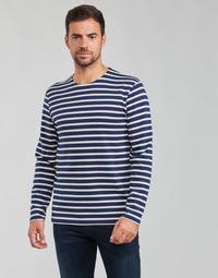 textil Herr Långärmade T-shirts Armor Lux MARINIERES RUSTIQUE BIO GA1 Blå