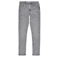 textil Flickor Skinny Jeans Pepe jeans PIXLETTE HIGH Grå