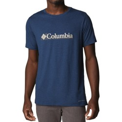 textil Herr T-shirts Columbia Tech Trail Graphic Tee Bleu marine