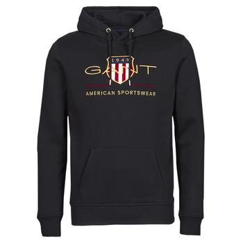 textil Herr Sweatshirts Gant ARCHIVE SHIELD HOODIE Svart