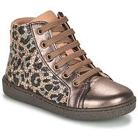 Skor Flickor Höga sneakers Bisgaard GAIA Leopard / Guldfärgad