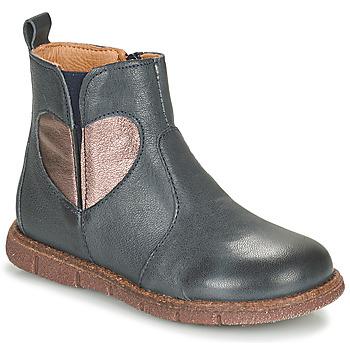 Skor Flickor Boots Bisgaard MAGGIE Marin / Silver
