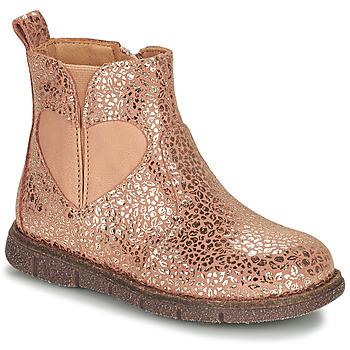 Skor Flickor Boots Bisgaard MELODY Rosa / Guldfärgad