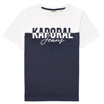 textil Pojkar T-shirts Kaporal JILEY Vit