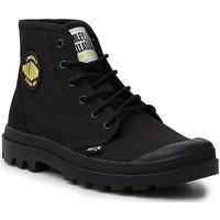 Skor Dam Boots Palladium Manufacture Hi Be Kind  77079-008-M black