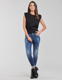 textil Dam Skinny Jeans Replay LUZIEN Blå / Mörk