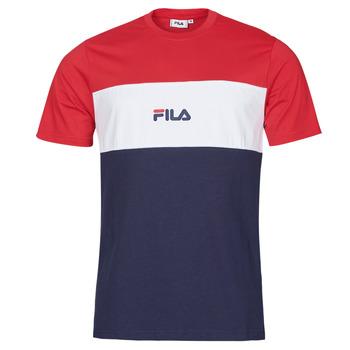 textil Herr T-shirts Fila ANOKI Röd / Marin / Vit