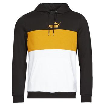 textil Herr Sweatshirts Puma ESS+ COLORBLOCK HOODIE FL Svart / Gul