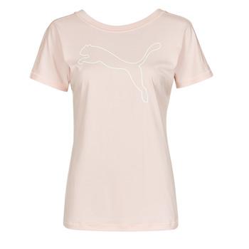 textil Dam T-shirts Puma TRAIN FAVORITE JERSEY CAT TEE Rosa