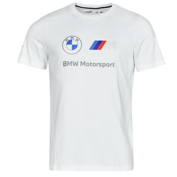 textil Herr T-shirts Puma BMW MMS ESS LOGO TEE Vit