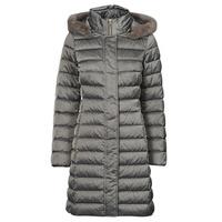 textil Dam Täckjackor Geox W BETTANIE LONG JKT Silver