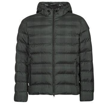 textil Herr Täckjackor Geox SANDFORD Svart / Kaki