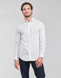 textil Herr Långärmade skjortor Emporio Armani 8N1C09 Vit