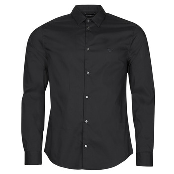 textil Herr Långärmade skjortor Emporio Armani 8N1C09 Svart