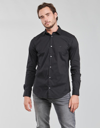 textil Herr Långärmade skjortor Emporio Armani 8N1C09 Marin