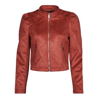 textil Dam Skinnjackor & Jackor i fuskläder Only ONLSHELBY Rosa