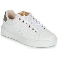 Skor Flickor Sneakers Kappa SAN REMO Vit / Guldfärgad / Silver