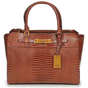 Väskor Dam Handväskor med kort rem Guess RAFFIE CARRYALL Cognac