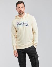 textil Herr Sweatshirts Jack & Jones JORLOGON Beige