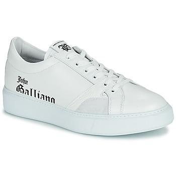 Skor Herr Sneakers John Galliano MISSISSIPPI Vit