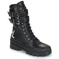 Skor Dam Boots Karl Lagerfeld TREKKA II HI CUFF BUCKLE BOOT Svart
