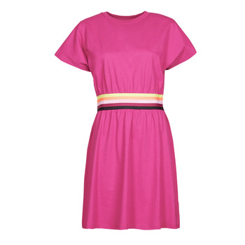 textil Dam Korta klänningar Karl Lagerfeld LOGO TAPE JERSEY DRESS Rosa